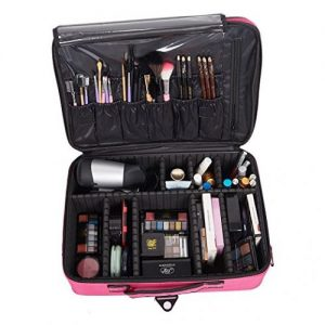 KARMAS PRODUCT Backpack Portable Travel Makeup Case Cosmetic Organizer Bag - Makeup Train Cases
