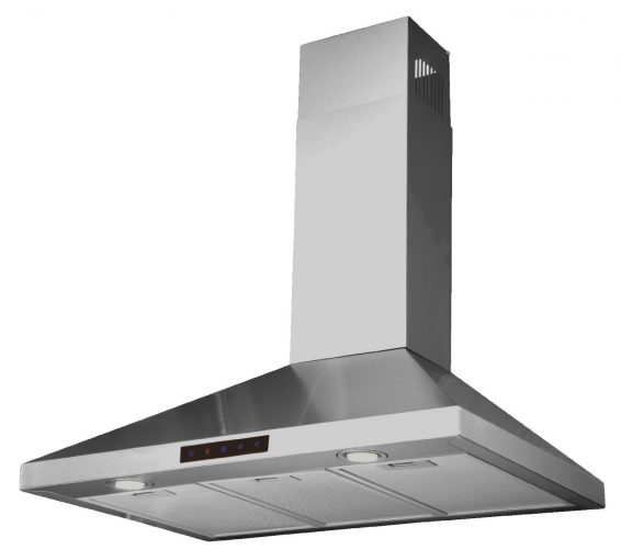 Kitchen Bath Collection 30-inch Wall-mounted Stainless Steel Range Hood with Touch Screen Control Panel - Range Hoods