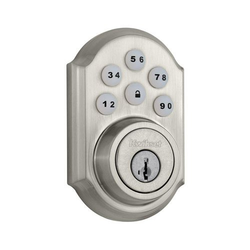 Kwikset 909 SmartCode Electronic Deadbolt featuring SmartKey in Satin Nickel - Keypad Door Locks