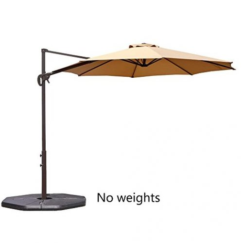Le Papillon 10-ft Offset Hanging Patio Umbrella Aluminum Outdoor Cantilever Umbrella - Offset Patio Umbrellas