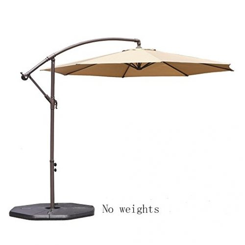 Le Papillon 10 ft Cantilever Umbrella Outdoor Offset Patio Umbrella - Offset Patio Umbrellas