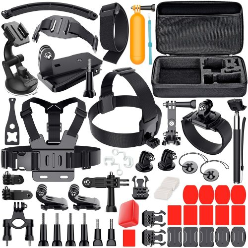 Leknes Camera Accessory Kit for GoPro Hero 5/Hero 5 Session/4/3+/3/2/1 SJ4000 SJ5000 SJ6000 DBPOWER AKASO Xiaomi Yi APEMAN WiMiUS Lightdow Campark - GoPro accessories Kit