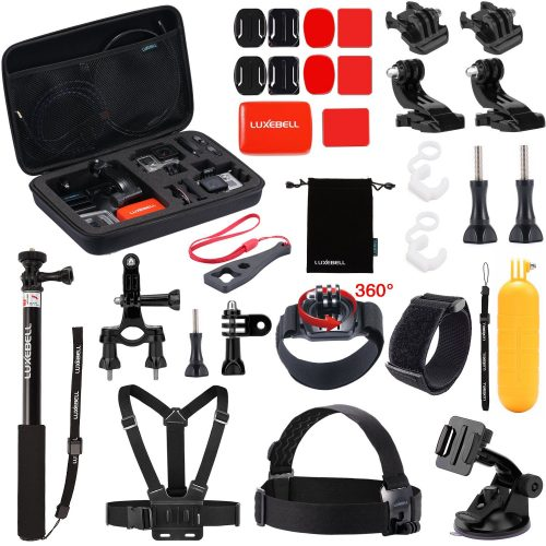 Luxebell Outdoor Sports Accessories Kit for GoPro Hero 5 Session Hero 4/3+/3+2 Sjcam Sj4000 Sj5000 Sj6000 DBPOWER 12MP/EX5000 14MP (30-in-1) - GoPro accessories Kit
