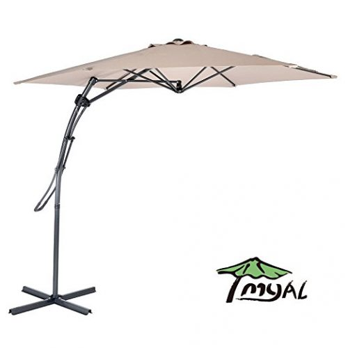 myal 9ft offset patio umbrella outdoor umbrella tan