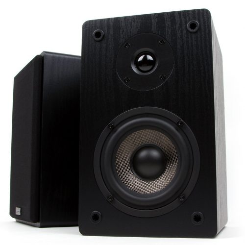 Micca MB42 Bookshelf Speakers With 4-Inch Carbon Fiber Woofer and Silk Dome Tweeter - Bookshelf speakers