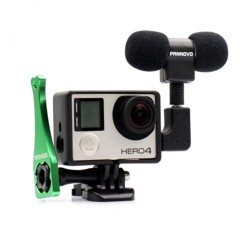 Microphone for Gopro, PANNOVO 3.5mm mini Mic microphone Adapter accessories for Gopro hero 3 3+ 4 and Digital Cameras - GoPro External Microphone