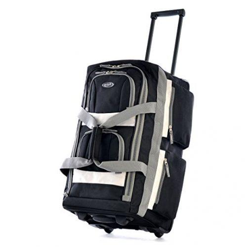 """Olympia Luggage 22"""" 8 Pocket Rolling Duffel Bag - Rolling Duffel Bags"""