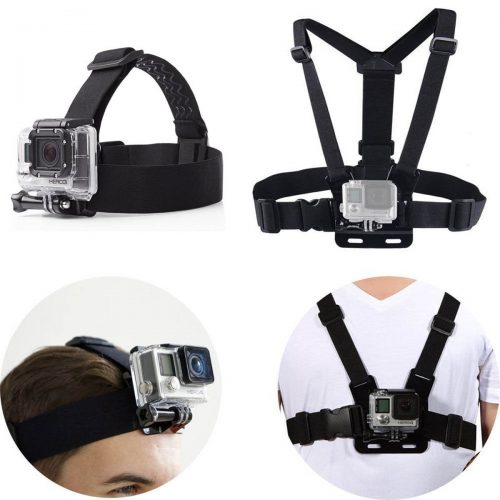 PANNOVO Head Strap Chest strap Mount Accessories Kits for GoPro Hero Session 5 4 3+ 3 - Best GoPro Head Mount
