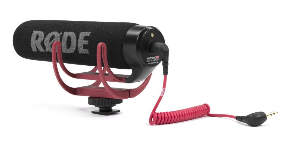 Rode VMGO Video Mic GO Lightweight On-Camera Microphone Super-Cardioid - GoPro External Microphone