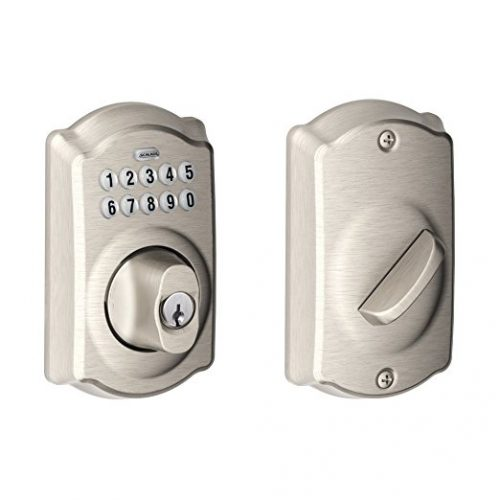 Schlage BE365VCAM619 Camelot Keypad Deadbolt, Satin Nickel - Keypad Door Locks