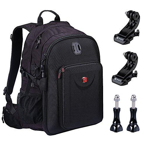 Smatree Multi-Function Backpack for 2 GoPro Hero 5/4/3/3+/Hero 5 Session/Hero Session Red-Brown - GoPro Backpack