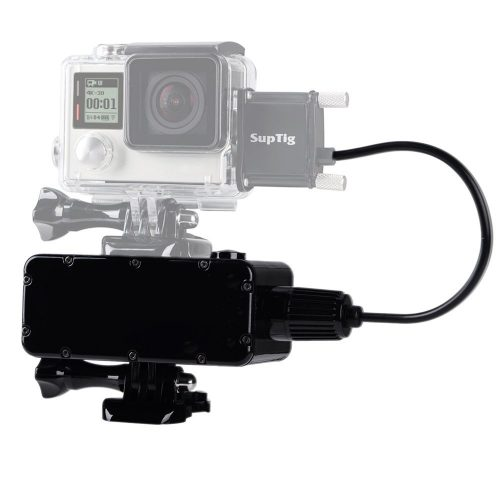 Suptig 5200mAh Waterproof Power Bank for GoPro Hero 5 Hero 4 Hero 3+ Hero3 Hero 4 session Hero 5 session and Yi action Sj camera Digital Camera and Smartphone  - GoPro External batteries