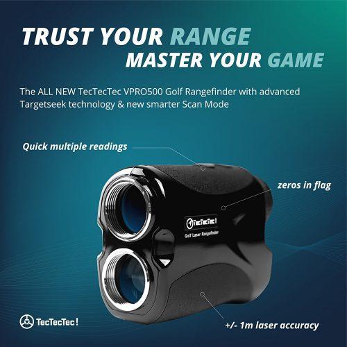 TecTecTec VPRO500 Golf Rangefinder - Laser Range Finder with Pinsensor - Laser Rangefinders