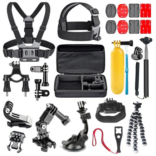 TechKen GoPro General Action Camera Mount Accessory Kit for GoPro Hero Session - GoPro Helmet Mount