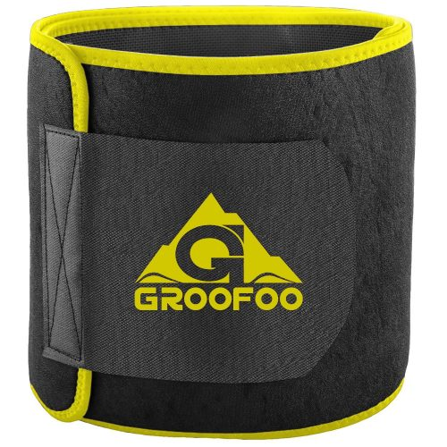 Waist Trimmer Belt, GROOFOO Adjustable Slimmer Weight Loss Ab Waist Trainer | Belly Fat Burner band | Non-Slip Lightweight Back Support For Man & Women - Abs Belts