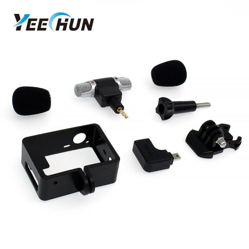 YEECHUN New Frame Housing Case + External Microphone + Adapter Kit for GoPro Hero 3  - GoPro External Microphone
