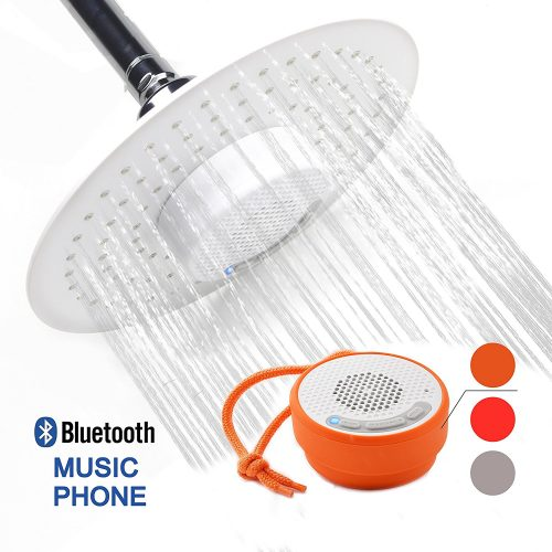 YOO.MEE Upgraded Version Rain Showerheads with Wireless Bluetooth Shower Speakers for Music or Phone Delivery -Portable Outdoor Waterproof Speakers Upgraded - Bluetooth Wireless Shower Heads