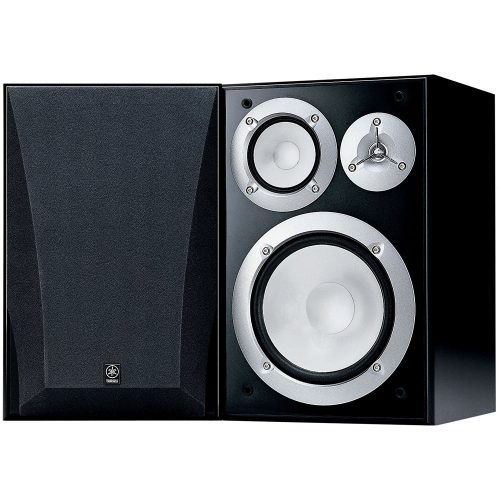 Yamaha NS-6490 3-Way Bookshelf Speakers, Black Finish - Bookshelf speakers