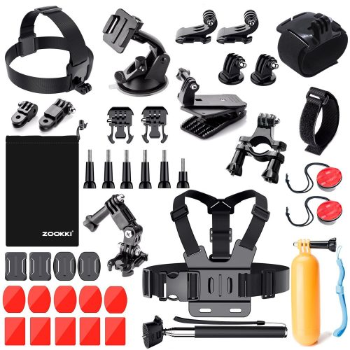 Zookki Outdoor Sports Accessories Kit for GoPro Hero Black Silver - GoPro Helmet Mount
