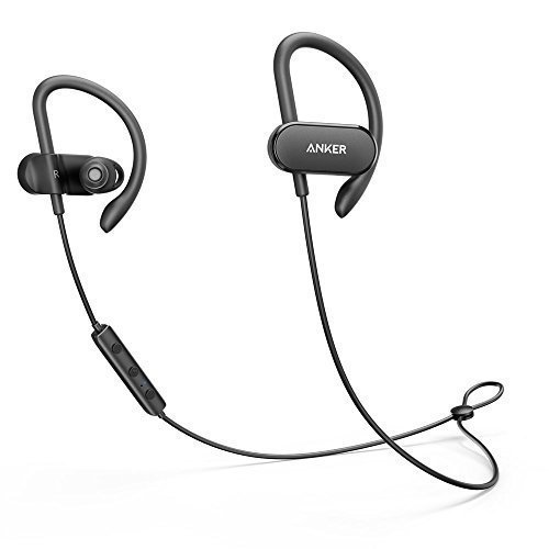 Anker SoundBuds Curve Bluetooth 4.1 Sports Earphones with 12.5 Hour Battery, AptX Stereo Sound - Wireless Earbuds Under 50