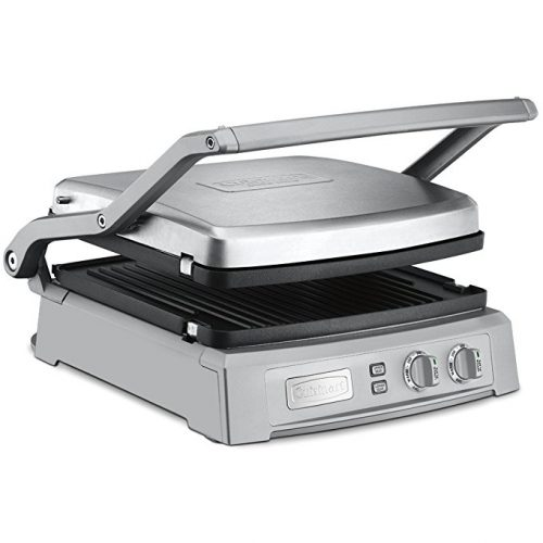 Cuisinart GR-150 Griddle Deluxe, Brushed Stainless - Panini Press