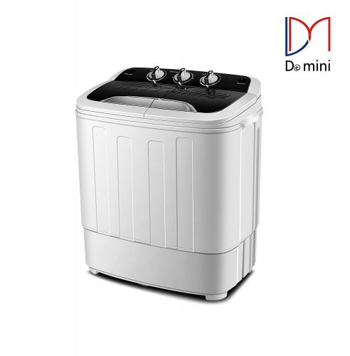 Do mini Portable Compact Twin Tub 13Ibs Capacity Washing Machine and Washer Spin Dryer - Portable Washing Machine