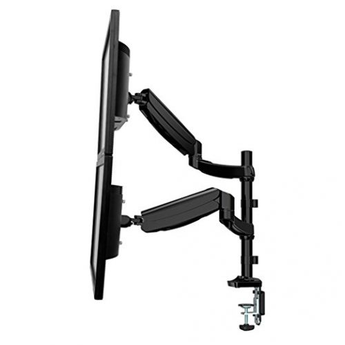 "Fleximounts Monitor Arm Dual Stacking Arm Monitor Mount for 10"" - 27'' LCD LED Screens And Laptop Mount Stand Holder - Dual Monitor Stands"