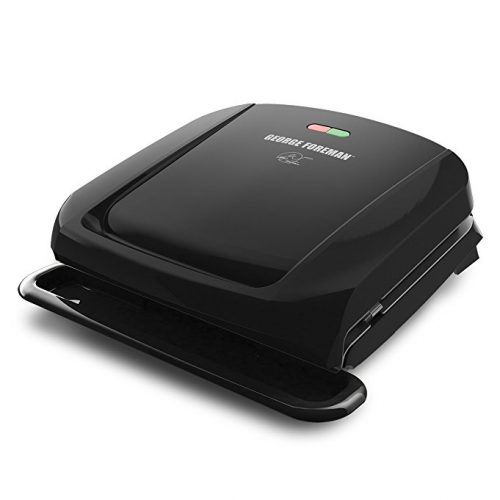 George Foreman 4-Serving Removable Plate Grill and Panini Press, Black, GRP1060B - Panini Press
