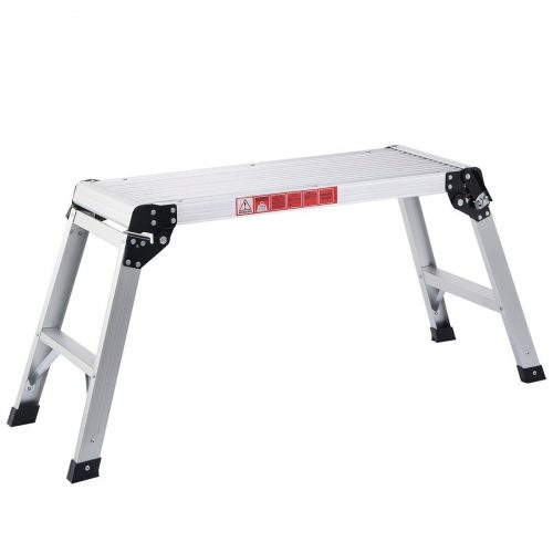 Giantex Hd En131 Aluminum Platform Drywall Step up Folding Work Bench Stool Ladder by Giantex - Portable Workbench