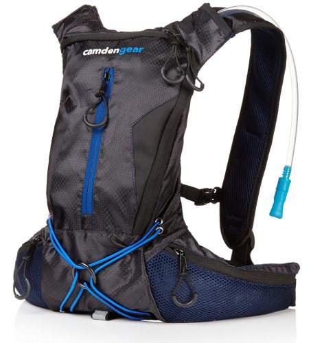 "Hydration Pack with 1.5 L Backpack Water Bladder. Fits Men and Women with Chest Sizes 27"" - 50"". Great for Hiking - Running - Biking – Kids - Hydration Pack"