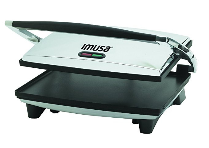 IMUSA USA GAU-80102 Large Electric Panini Press 1400-Watts, Silver - Panini Press