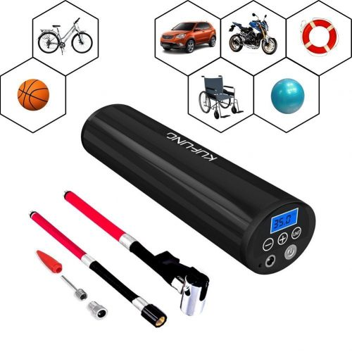 KUFUNG Rechargeable Portable Air Compressor, 150PSI Digital Tire Inflator, for Auto Bicycle Ball - tire inflator