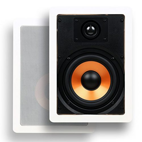 "Micca M-6S 6.5 Inch 2-Way In-Wall Speaker with Pivoting 1"" Silk Dome Tweeter (Each, White) - In-wall Speakers"