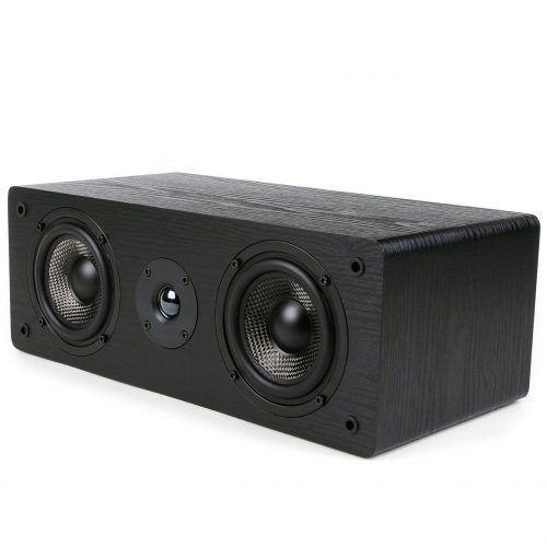 Micca MB42-C Center Channel Speaker With Dual 4-Inch Carbon Fiber Woofer and Silk Dome Tweeter (Black, Each) - Center Channel Speakers