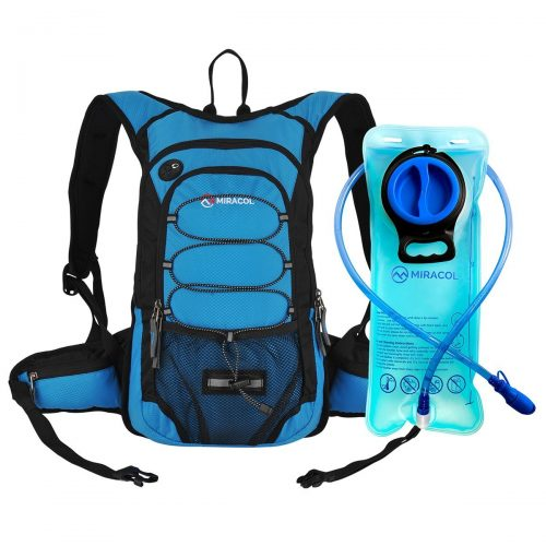 Miracol Hydration Backpack with 2L Water Bladder, Thermal Insulation Pack Keeps Liquid Cool up to 4 Hours, Perfect Outdoor Gear for Skiing, Running, Hiking, Cycling - Hydration Pack