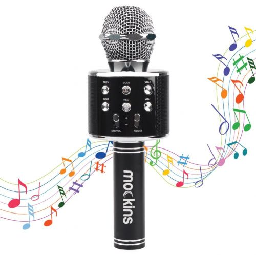Mockins WS858 Wireless Portable Handheld Bluetooth KARAOKE MICROPHONE Compatible with Android & IOS Apple – Black - Bluetooth Microphone