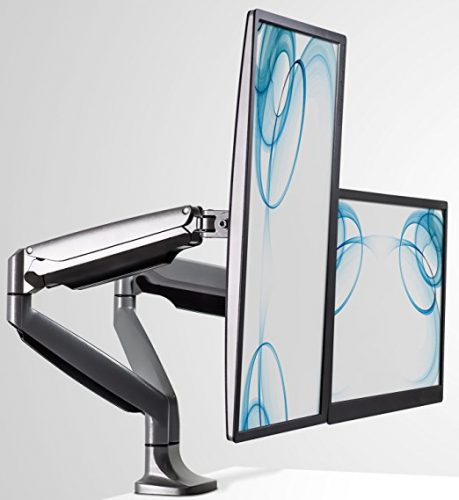 Mount It Monitor Desk Mount, Computer Monitor Stand, Height Adjustable Arm Fits Up To 32 Inch Screens - Dual Monitor Stands