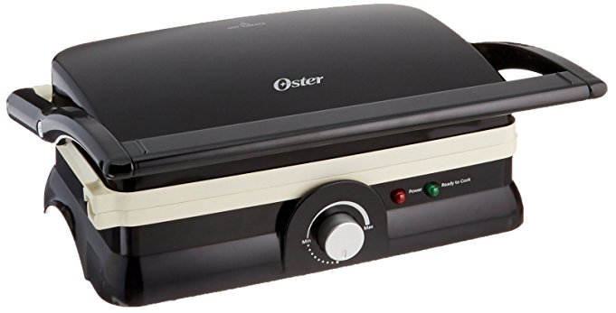 Oster Dura Ceramic Panini Maker and Grill - Panini Press