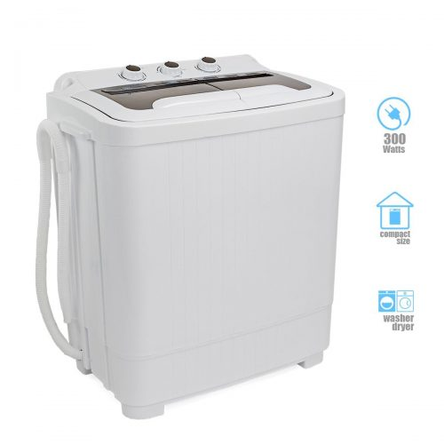 Portable Compact Washer and Spin Dry Cycle Built in Pump 300W Apartment Washer Spinning Dryer - Portable Washing Machine