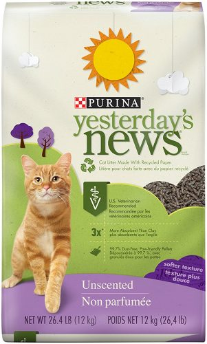 Purina Yesterday's News Unscented Cat Litter - Clumping Cat Litter