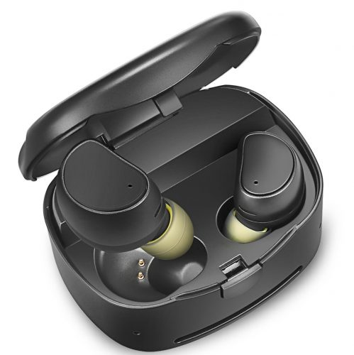 Soundmoov 316T Mini Wireless Earbuds with Charging Box - Black - Wireless Earbuds Under 50