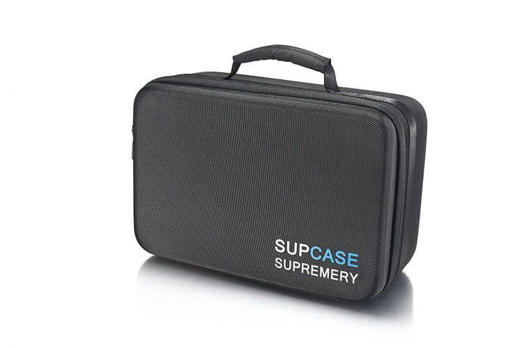 Supremery Sup320 Waterresistent Case for GoPro Hero 5 / four / 3+ / 3/2/1, Sj4000 Sj5000 Bag Case for Camera, Housing, Wifi Remote and Accessories (Hidden Compartment, Zipper, Hardshell Case) Black-blue - GoPro Cases