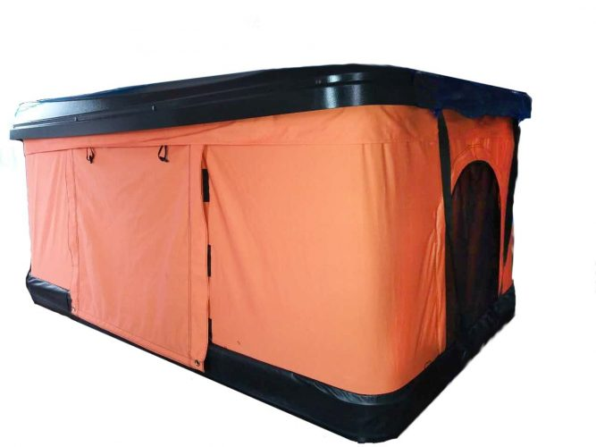 TMB Motorsports Orange Pop Up Roof Tent Universal for Cars Trucks SUVs Camping Travel Mobile - Suv Tent