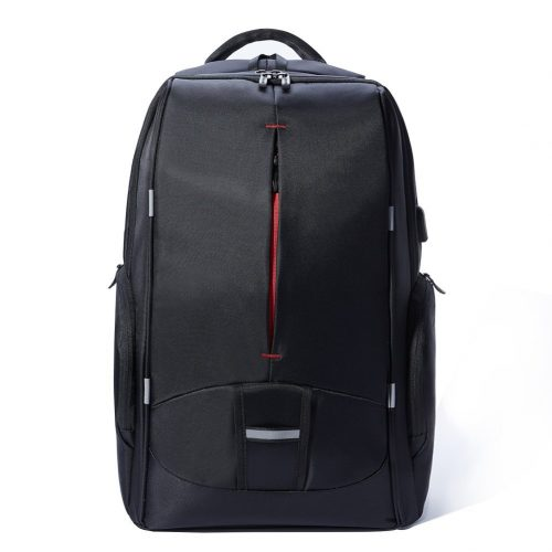 17.3 Inch Laptop Backpack with USB Port, KALIDI Waterproof Rucksack Lightweight Notebook Bag Hiking Knapsack Student Backpack, Black - 17-inch laptop backpacks