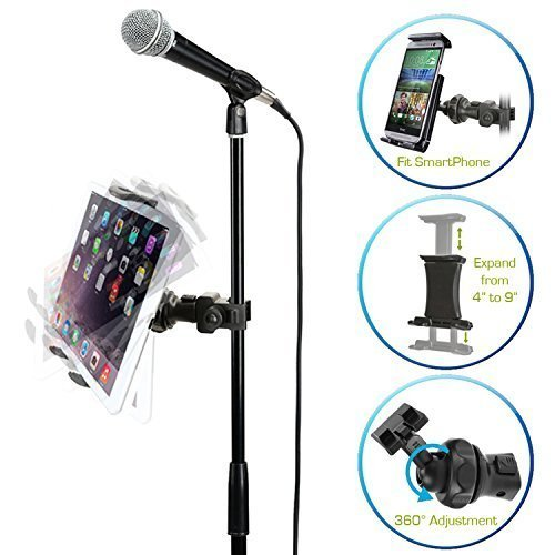 AccessoryBasics EasyAdjust cymbal Microphone Mic Stand Tablet Mount for Apple iPad - best microphone stand