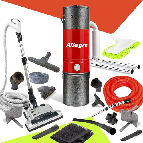 Allegro MU4500 Champion - 6,000 Square Foot Home Central Vacuum System 30 Foot Electric Hose - Central Vacuum Systems