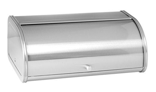 Anchor Hocking Fingerprint Free Brushed Steel Bread Box - bread boxes