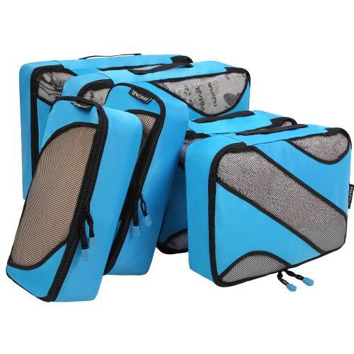 BAGAIL 6 Set Packing Cubes, 3 Various Sizes Travel Luggage Packing Organizers - packing cube