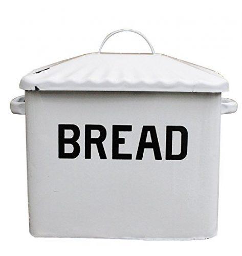 Creative Co-op Enameled Metal Bread Box - bread boxes