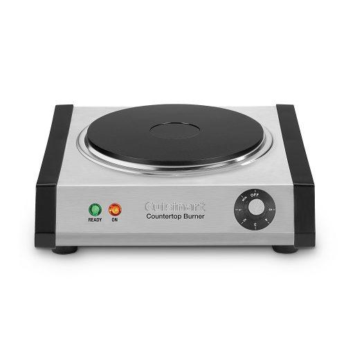 Cuisinart CB-30 Cast-Iron Single Burner, Stainless Steel - Portable Single Burner